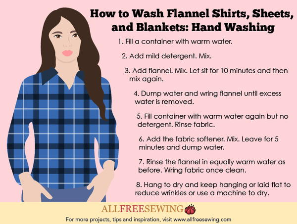How to Wash Flannel Shirts, Sheets, and Blankets: Hand Washing