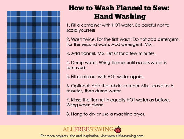 How to Wash Flannel to Sew: Hand Washing