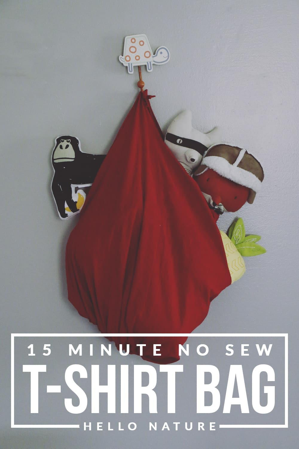 15 Minute No Sew T-Shirt Bag DIY