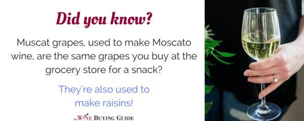 Did you know this about Moscato grapes?