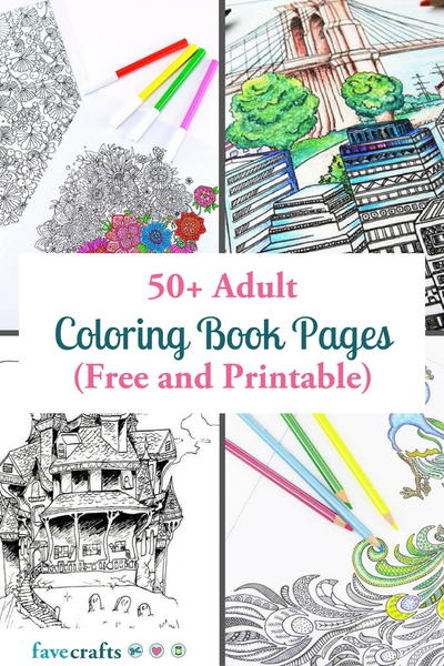 50+ Adult Coloring Book Pages (Free And Printable!) FaveCrafts.com