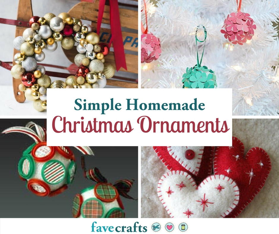 70 simple homemade christmas ornaments for Homemade christmas decorations