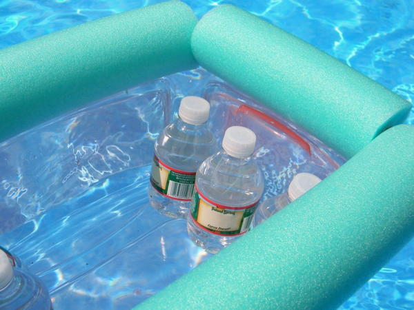 Simple Pool Noodle Floating Cooler DIY
