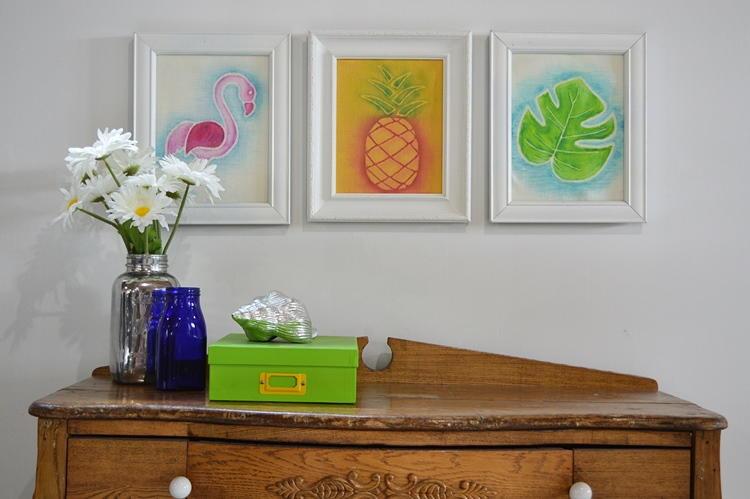Tropical Watercolor Home Decor