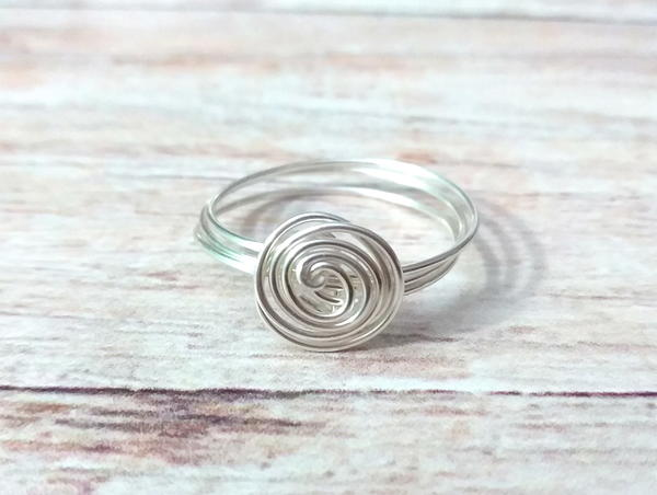 Super Quick Wire Spiral Ring