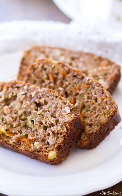 Pineapple Carrot Zucchini Bread