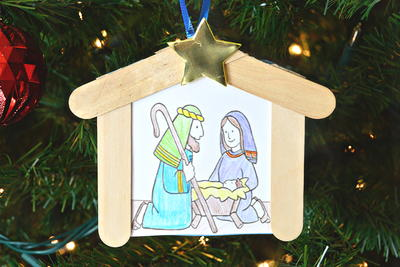 Kids Christmas Nativity Ornament