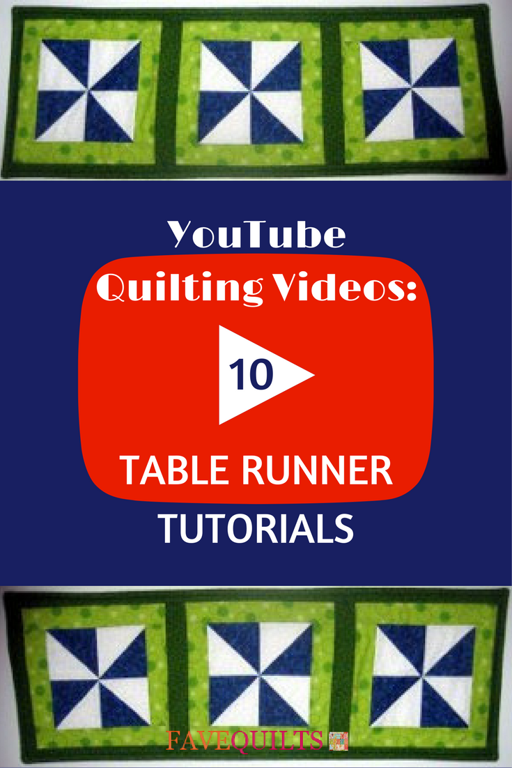 Youtube Quilting Videos 10 Table Runner Tutorials
