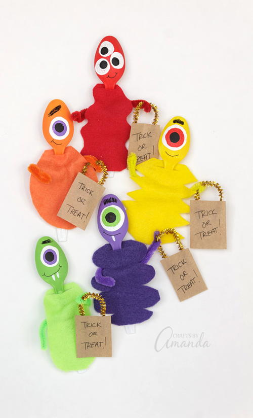 Plastic Spoon Monster Craft
