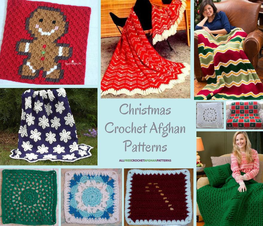187 Christmas Crochet Afghan Patterns