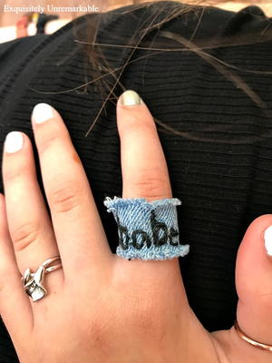 DIY Denim Ring