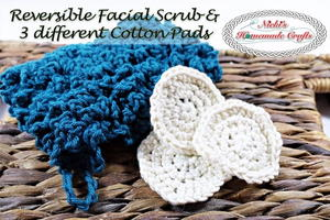 Facial Scrub and 3 Different Cotton Pads
