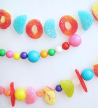 Colorful Candy DIY Garland