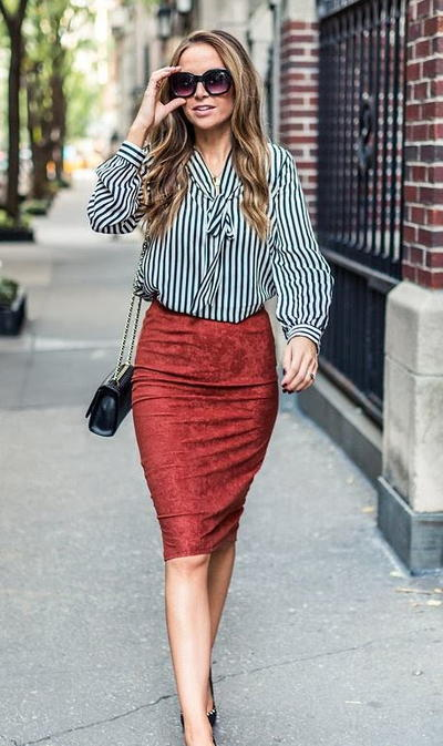 Suede Midi DIY Pencil Skirt