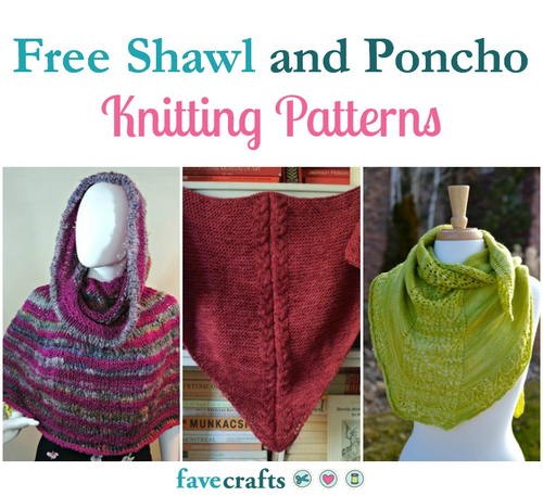 Knitting Patterns For Ponchos And Shawls : 23 Free Poncho Knitting Patterns FaveCrafts.com