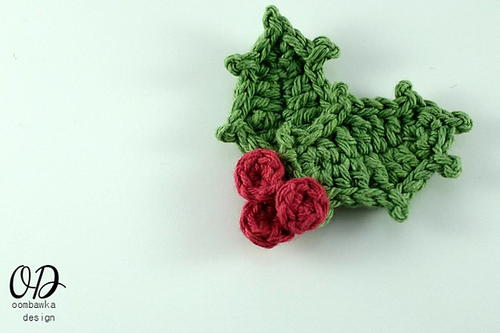 Christmas Holly Embellishment