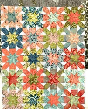 Starburst Cross Block Quilt