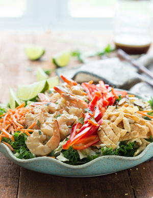 Copycat Applebee's Thai Shrimp Salad
