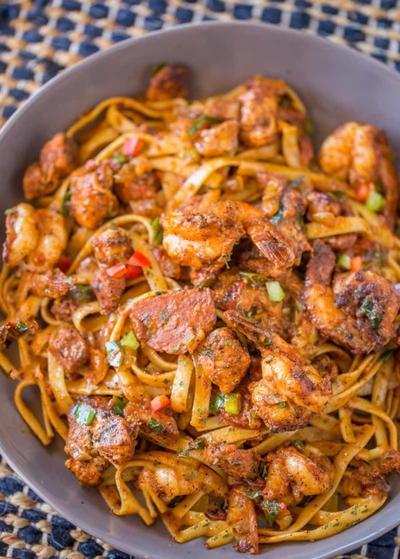 Easy Cajun Jambalaya Pasta  Favesouthernrecipescom-4623