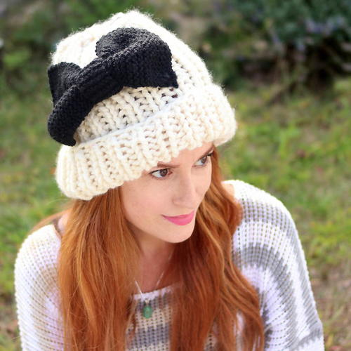 Put a Bow on It Knit Hat