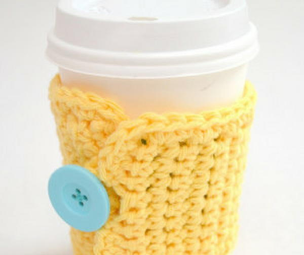1-Hour Crochet Coffee Cozy