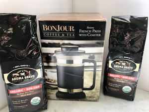 Bonjour Riviera French Press Coffee Maker and Coffee Giveaway