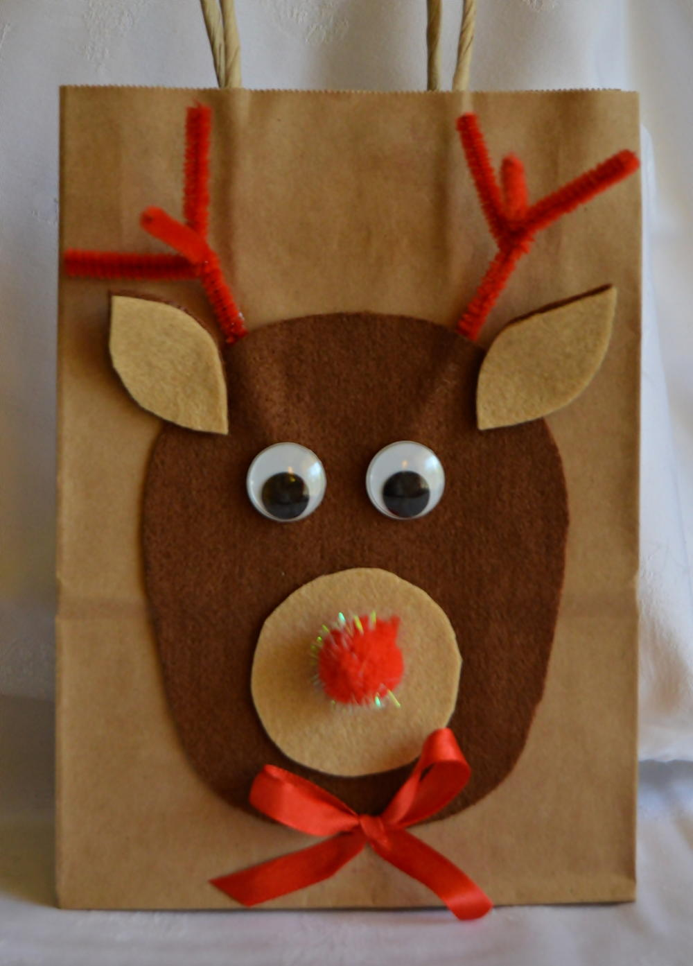 Wishes From Rudolph Diy Gift Bag Allfreekidscrafts Com