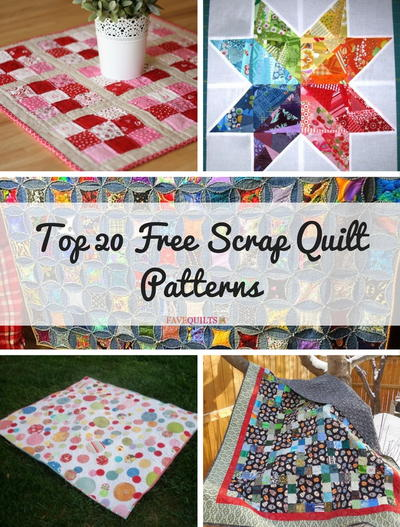 Top 20 Free Scrap Quilt Patterns