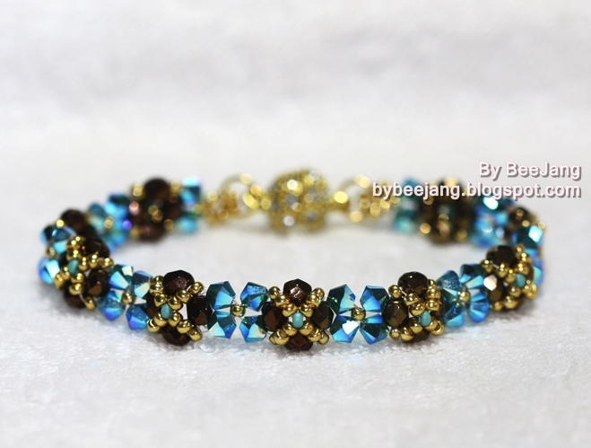 Right Angle Crystal : Skinny crystal right angle weave bracelet