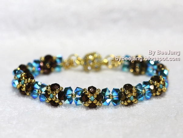 Skinny Crystal Right Angle Weave Bracelet