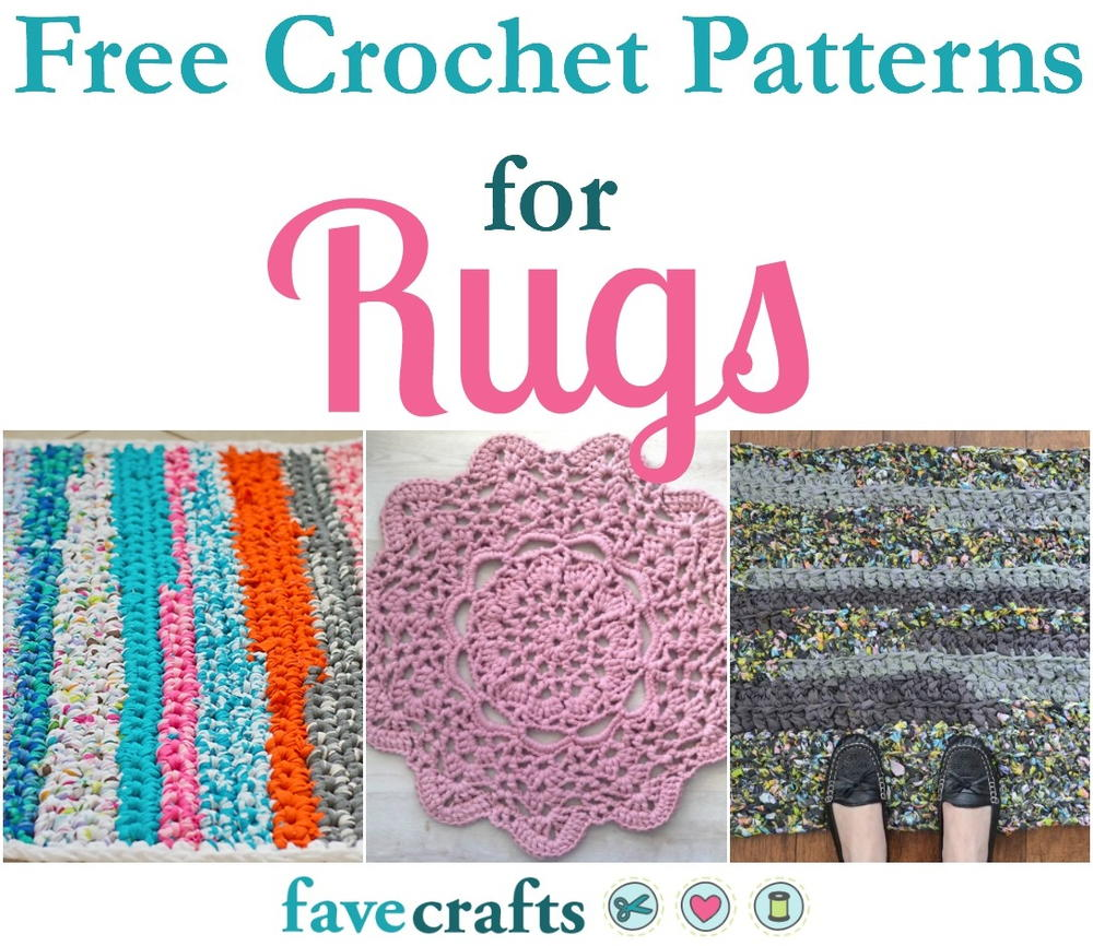 18 Free Crochet Patterns For Rugs Favecrafts Com