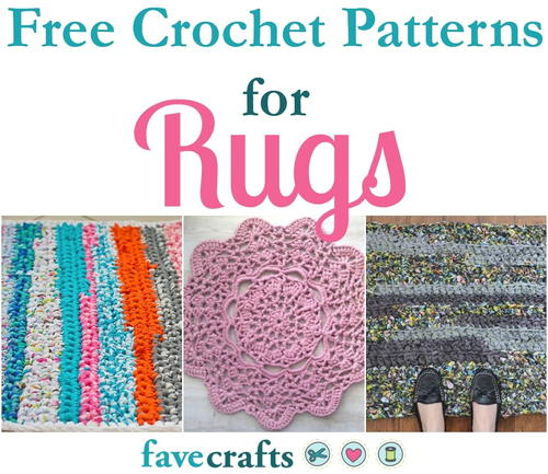 18 Free Crochet Patterns for Rugs | FaveCrafts com
