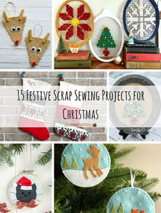 15 Festive Scrap Sewing Projects for Christmas