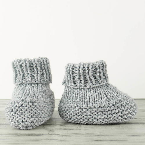 Worlds Easiest Knit Baby Booties