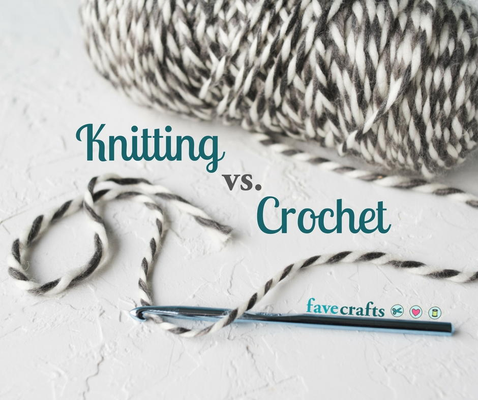 Knitting Or Crocheting Difference : Knitting vs crochet what s the difference favecrafts
