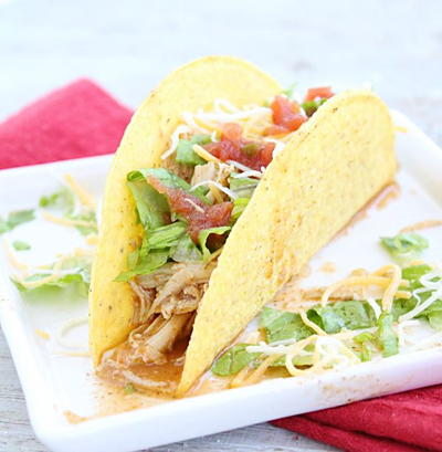 4-Ingredient Ranch Chicken Tacos