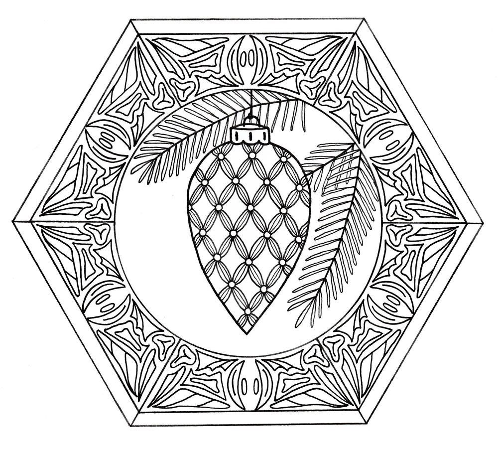 coloring pages christmas baubles - photo#26