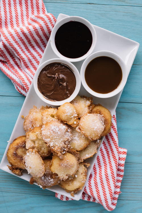 Mini Funnel Cake Desserts