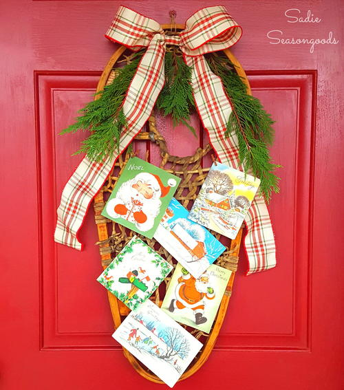"Vintage Snowshoe Christmas ""Wreath"