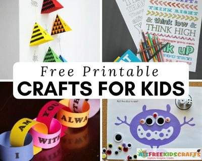 photograph regarding Printable Kids Craft known as 100+ No cost Printable Crafts for Little ones