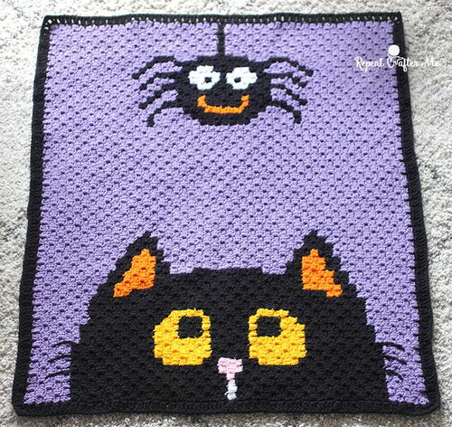 Corner-to-Corner Halloween Blanket
