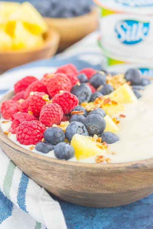 Fruity Peach Yogurt Bowl