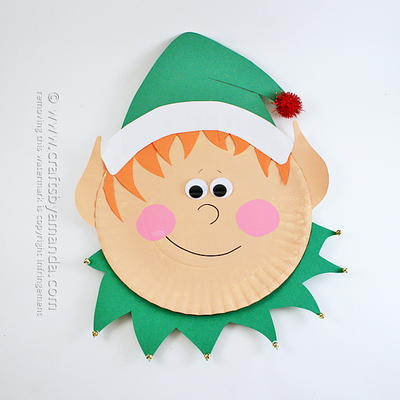 Adorable Paper Plate Elf Craft