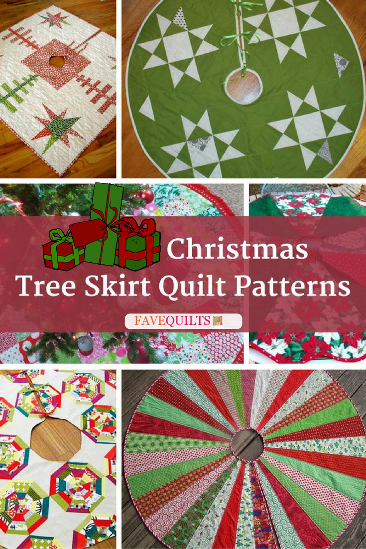 13 Christmas Tree Skirt Quilt Patterns | FaveQuilts.com