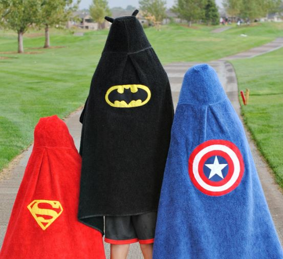 Superhero Hooded Towel Tutorial