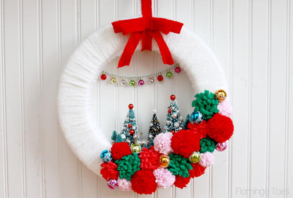 Vintage Style Winter Wonderland Wreath