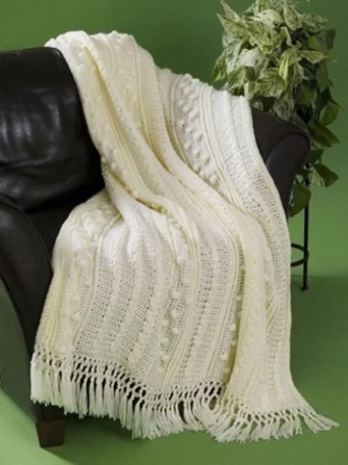 f2e8c37c4 Simple Aran Crochet Afghan