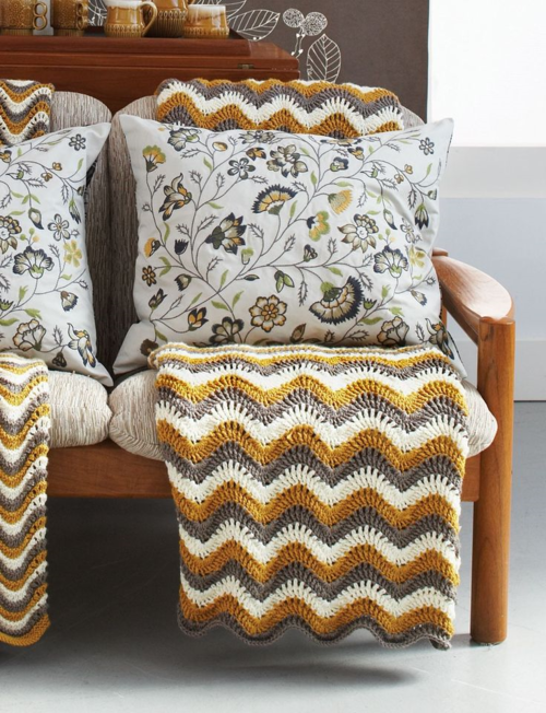 Touch of Honey Ripple Crochet Pattern