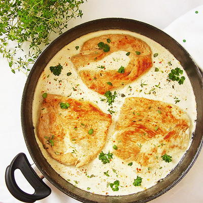 Creamy Thyme Turkey Breast Cutlets