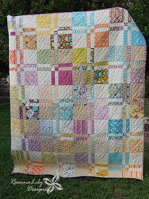 Disappearing 4-Patch Quilt with Layer Cakes Tutorial